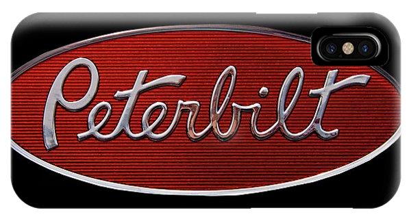 Logo iPhone Case - Peterbilt Emblem Black by Nick Gray
