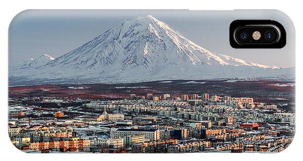 Rooftops iPhone Case - Petropavlovsk-kamchatsky Cityscape And by Alex Tihonovs