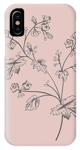 Bouquet iPhone X Case - Phacelia Blush Pink Flower by Naxart Studio