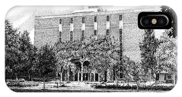 Purdue Boilermakers iPhone Case - Pharmacy School, Purdue University, West Lafayette, Indiana by Stephanie Huber