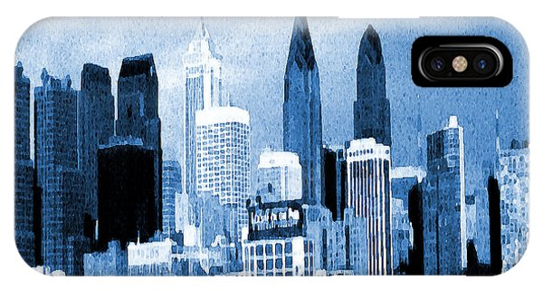 Philadelphia Blue - Watercolor Painting IPhone Case