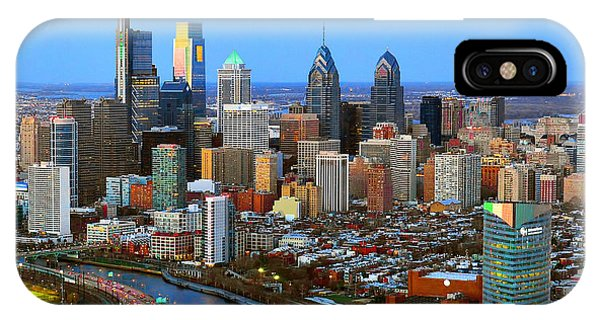 Dusk iPhone Case - Philadelphia Skyline At Dusk 2018 by Jon Holiday