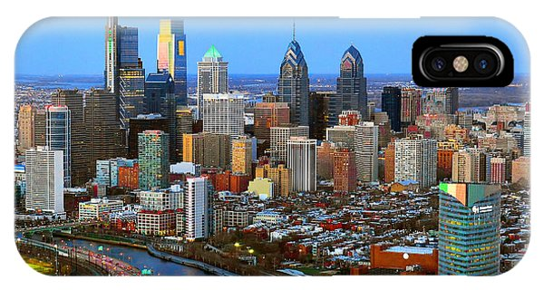Skyscraper iPhone Case - Philadelphia Skyline At Dusk 2018 by Jon Holiday