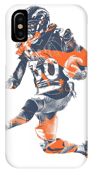 Ball iPhone Case - Phillip Lindsay Denver Broncos Pixel Art 2 by Joe Hamilton