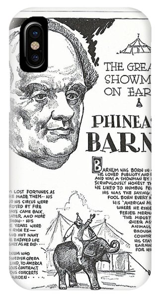 iPhone Case - Phineas T. Barnum - The Greatest Showman On Earth by Zal Latzkovich