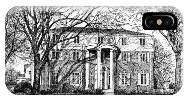 Purdue Boilermakers iPhone Case - Pi Beta Phi Sorority House, Purdue University, West Lafayette by Stephanie Huber