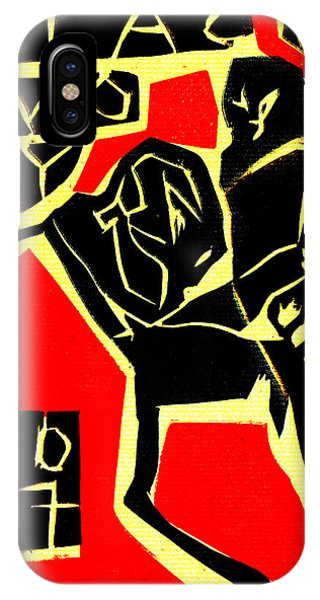 Piano Player Black Ivory Woodcut Poster 31 IPhone Case