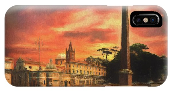 Piazza Del Popolo Rome IPhone Case