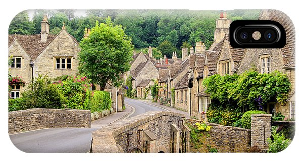 Old Building iPhone Case - Picturesque Cotswold Village Of Castle by Jenifoto