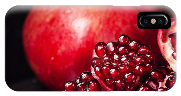 Eating iPhone Case - Pieces And Seeds Of Ripe Pomegranate by Lisovskaya Natalia