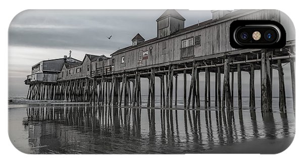 Orchard Beach iPhone Case - Pier At Dawn In Maine by Betsy Knapp