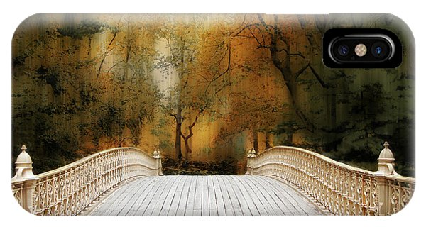 Pine Bank Arch In Autumn IPhone Case