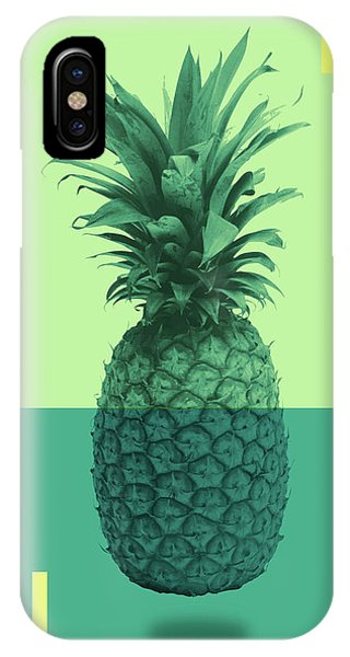 Pastel Colors iPhone Case - Pineapple Print - Tropical Decor - Botanical Print - Pineapple Wall Art - Blue, Teal, Aqua - Minimal by Studio Grafiikka