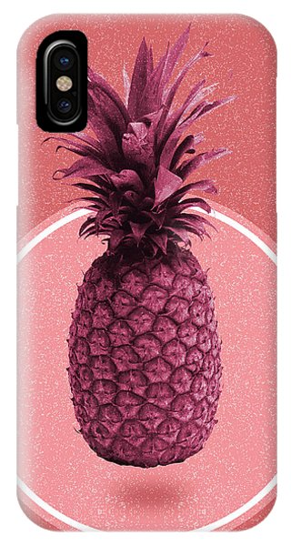 Pastel Colors iPhone Case - Pineapple Print - Tropical Decor - Botanical Print - Pineapple Wall Art - Magenta, Pink - Minimal by Studio Grafiikka