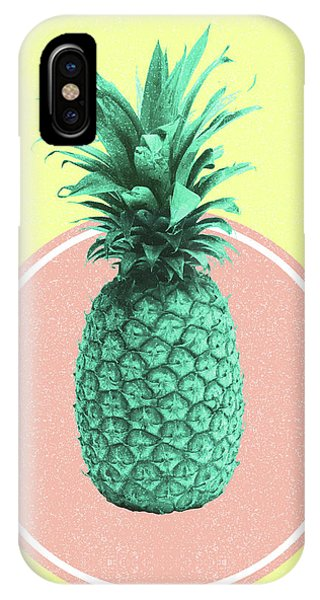 Pastel Colors iPhone Case - Pineapple Print - Tropical Decor - Botanical Print - Pineapple Wall Art - Yellow, Pink - Minimal by Studio Grafiikka