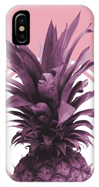Pastel Colors iPhone Case - Pineapple Print - Tropical Wall Art - Botanical Print - Pineapple Poster - Purple - Minimal, Modern by Studio Grafiikka
