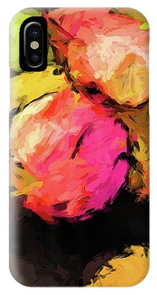 Pink And Green Apples With The Yellow Banana IPhone Case