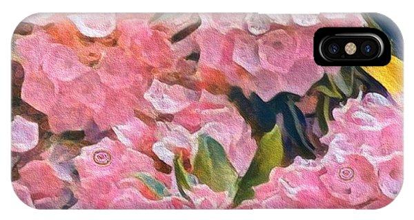 Pink Bougainvillea IPhone Case