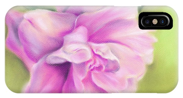 Pink Camellia With Leaves IPhone Case