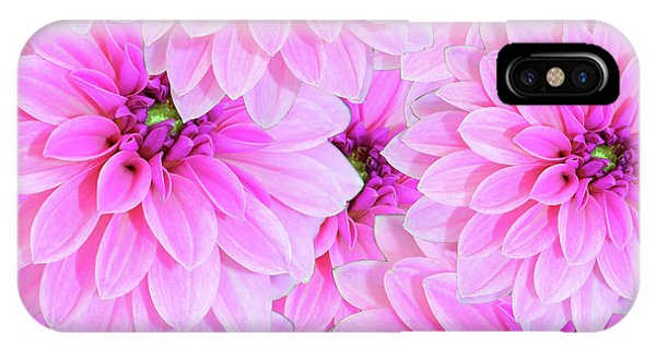 Pink Dahlia Flower Design IPhone Case