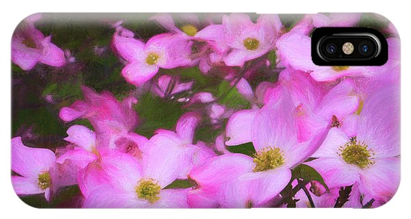 Pink Dogwood Flowers  IPhone Case