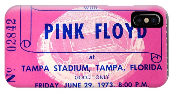 iPhone Case - Pink Floyd 1973 Ticket And Tour by David Lee Thompson