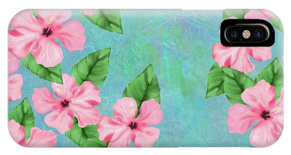 Pink Hibiscus Tropical Floral Print IPhone Case