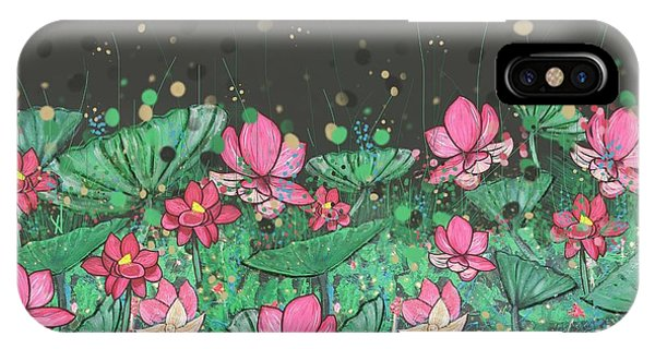 iPhone Case - Pink Lilies Digital Change1 by Joan Stratton