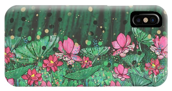 iPhone Case - Pink Lilies Digital Change2 by Joan Stratton