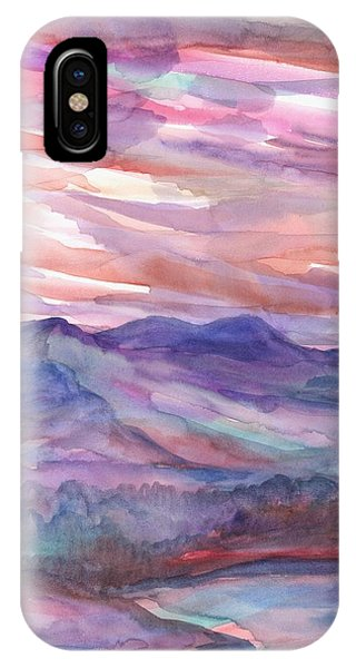 Pink Mountain Landscape IPhone Case