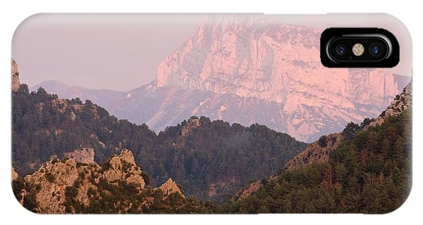 IPhone Case featuring the photograph Pink Pena Montanesa by Stephen Taylor