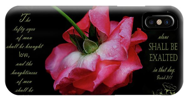 Battery D iPhone Case - Pink Rose Takes A Bow - Verse by Anita Faye