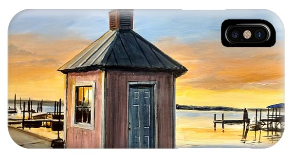 IPhone Case featuring the painting Pink Shed by William Brody