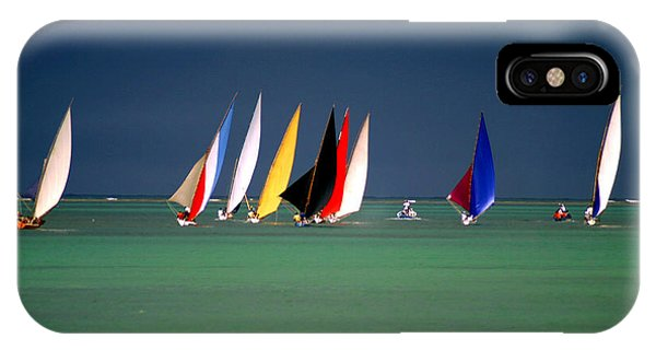 Fisherman iPhone Case - Pirogues On The Horizon In Front Of by Paul Banton