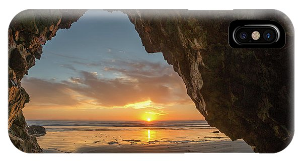 Pismo Caves Sunset IPhone Case
