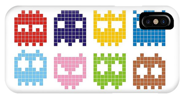 Space iPhone Case - Pixel Monster Icon by Lazyvector