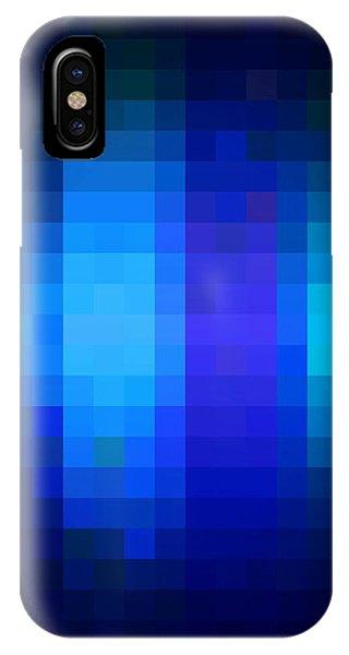 IPhone Case featuring the digital art Pixelated Moonlit Sky by Rachel Hannah