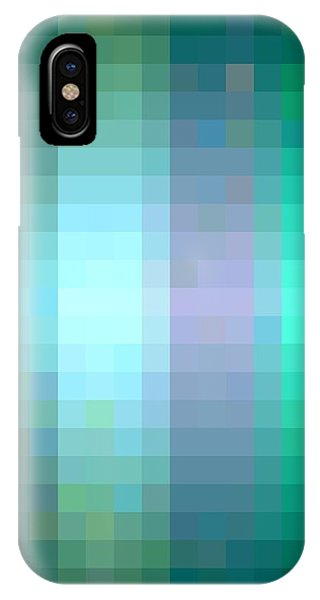 IPhone Case featuring the digital art Pixelated Paradise Fusion by Rachel Hannah