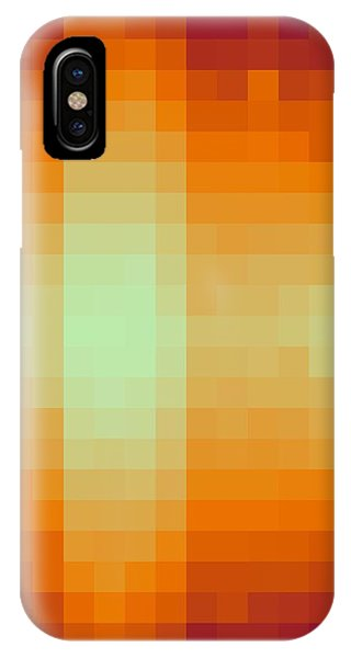 IPhone Case featuring the digital art Pixelated Tropical Sunset by Rachel Hannah