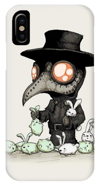 Doctor iPhone Case - Plague Doctor Experiments  by Ludwig Van Bacon