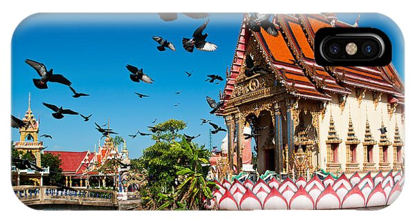 Culture iPhone Case - Plai Laem Temple In  Koh Samui, Thailand by Guzel Sakhabieva
