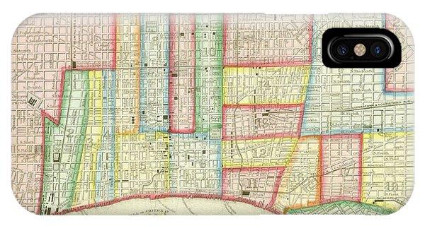 Plan Of Philadelphia, 1860 IPhone Case