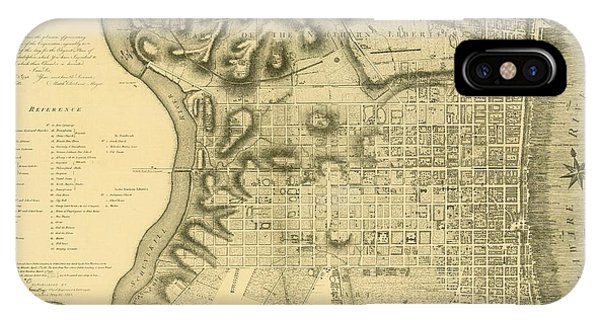 Plan Of The City Of Philadelphia And Its Environs Shewing The Improved Parts, 1796 IPhone Case
