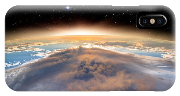 Beautiful Sunrise iPhone Case - Planet Earth With A Spectacular Sunset by Muratart