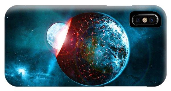 Beam iPhone Case - Planet Impact by ArtMarketJapan