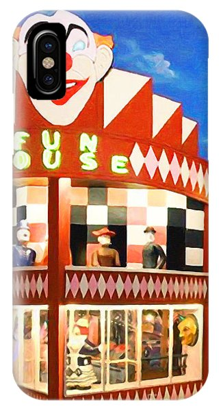 IPhone Case featuring the photograph Playland At The Beach Fun House San Francisco Nostalgia 20181224 by Wingsdomain Art and Photography