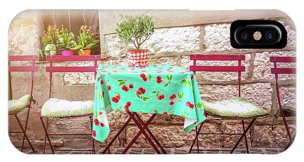 French Riviera iPhone Case - Please Have A Seat by Delphimages Photo Creations