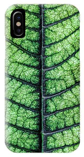 Plant iPhone Case - Poinsetta Leaf In Abstract Macro by Tom Mc Nemar