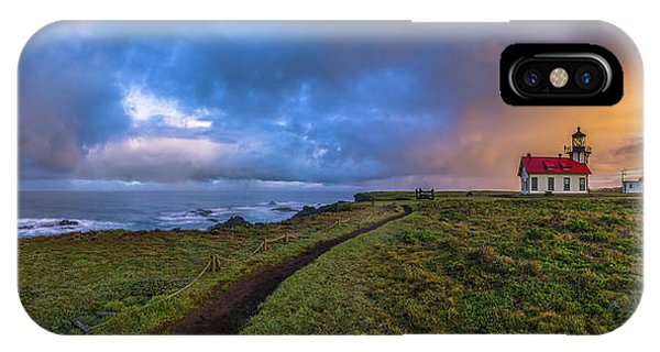 Point Cabrillo Light Station Panorama IPhone Case