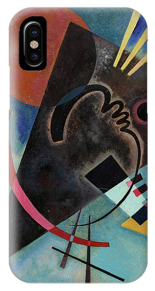 Illusion iPhone Case - Pointed And Round - Spitz Und Rund by Wassily Kandinsky